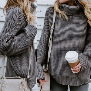 LAST TWO!🍁Sara Sweater in Medium Gray